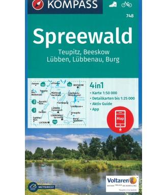 Kompass Spezialwanderkarte Spreewald
