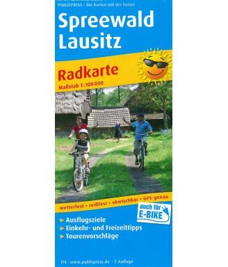 Radkarte Spreewald Lausitz